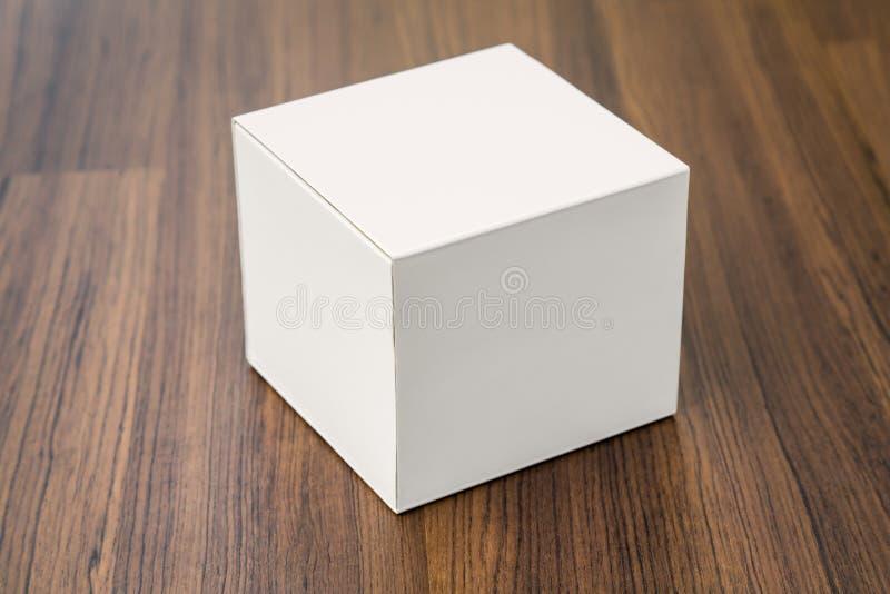 Derisione in bianco della scatola bianca su fotografia stock