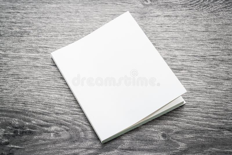 Derisione in bianco di bianco sul libro immagini stock libere da diritti