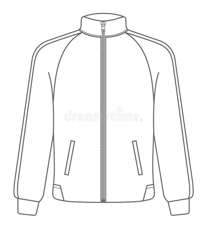 Derisione del rivestimento di sport di polo su Stile del profilo illustrazione di stock