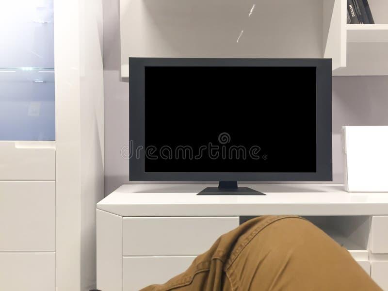 Derisione della TV su fotografie stock