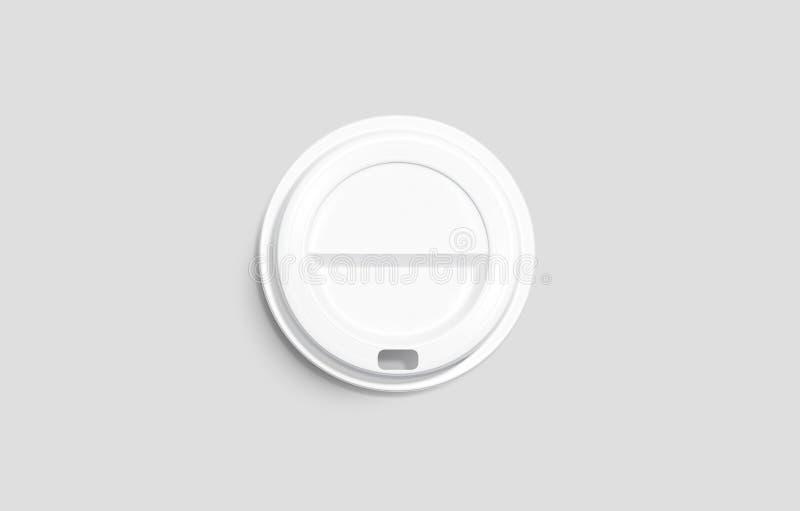 Derisione eliminabile bianca del coperchio della tazza di caff? dello spazio in bianco sulla menzogne royalty illustrazione gratis