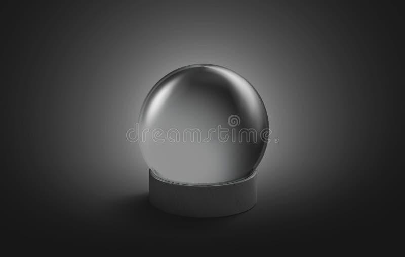 Derisione magica di cristallo nera della palla dello spazio in bianco su, isolato illustrazione vettoriale