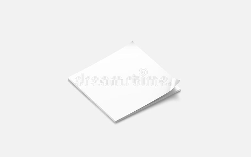 Derisione quadrata chiusa bianca del giornale dello spazio in bianco su, vista laterale, illustrazione vettoriale