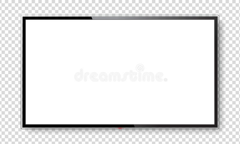 Derisione realistica dello schermo della TV su illustrazione di stock