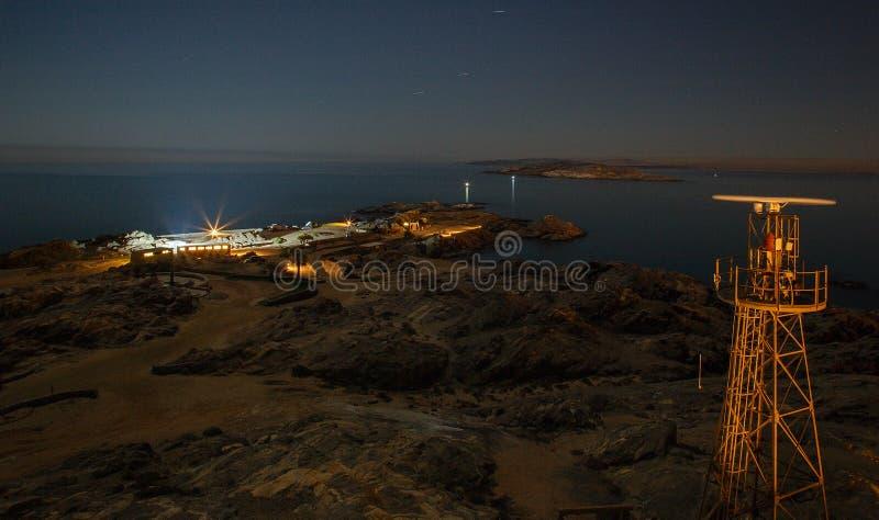 Deritz del ¼ de LÃ - isla del tiburón en la noche fotos de archivo