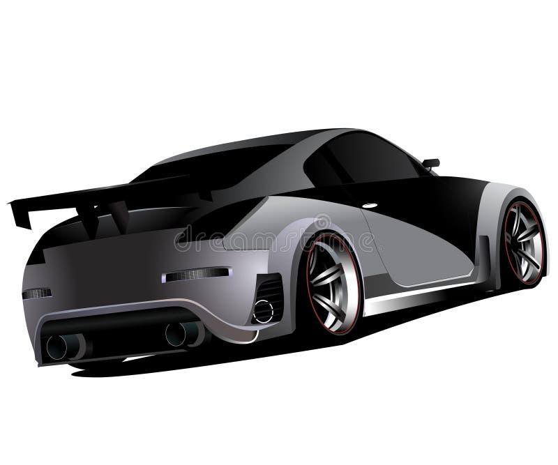 Derivação personalizada de nissan 350z turbo do nismo ilustração stock