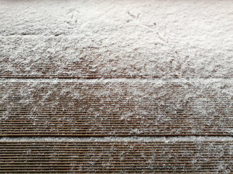 Deriva De La Nieve En Los Tableros De Madera Con El Espacio En ...