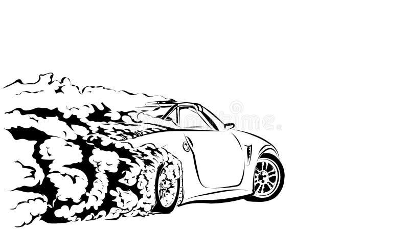 Deriva di sport dell'automobile illustrazione di stock