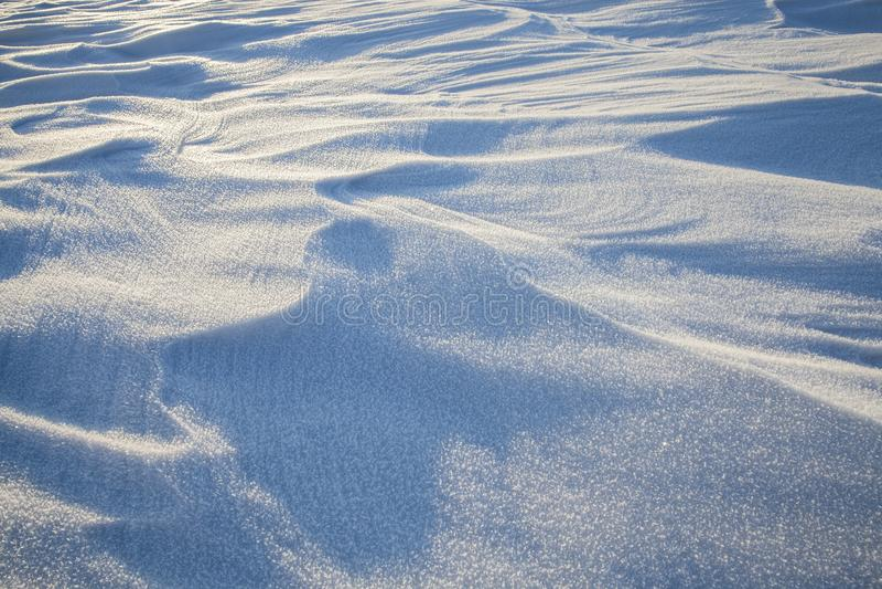 Derive della neve nell'inverno fotografia stock