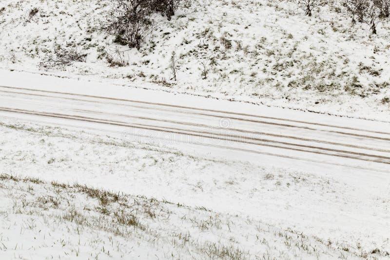Derive della neve nell'inverno immagini stock