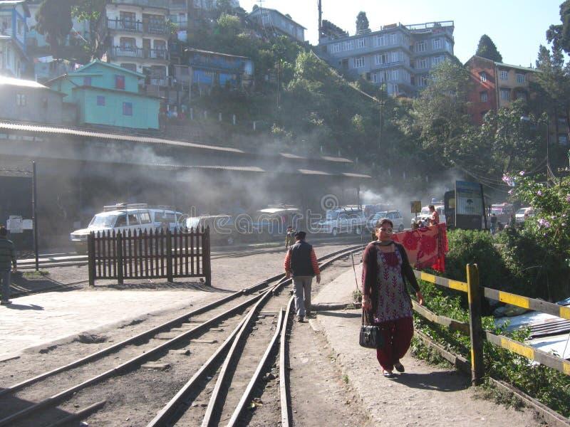 derjeeling станция стоковая фотография rf
