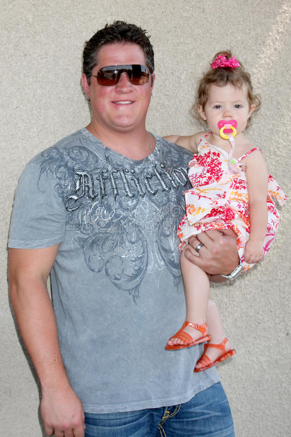 Derk Cheetwood. & Daughter arriving at the General Hospital Fan Club Luncheon at the Airtel Plaza Hotel in Van Nuys, CA on July 18, 2009 stock photography