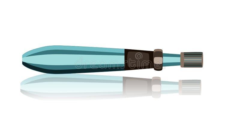Dermapen Microneedle cechowania przyrząd Kolagen indukci terapia ilustracji