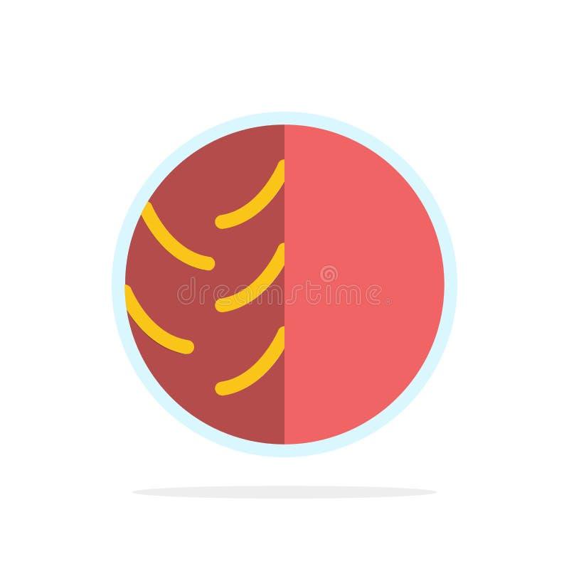 Dermatologe, Dermatologie, trockene Haut, Haut, Hautpflege, Haut, flache Ikone Farbe Hautschutz-des abstrakten Kreis-Hintergrunde vektor abbildung