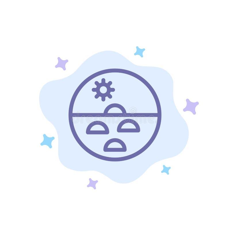 Dermatologia, Sucha skóra, skóra, skóry opieka, skóry Błękitna ikona na abstrakt chmury tle ilustracji