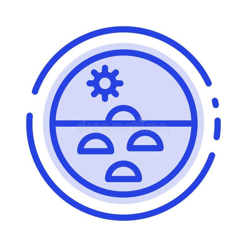 Dermatologia, Sucha skóra, skóra, skóry opieka, skóry linii linii błękit Kropkująca ikona royalty ilustracja