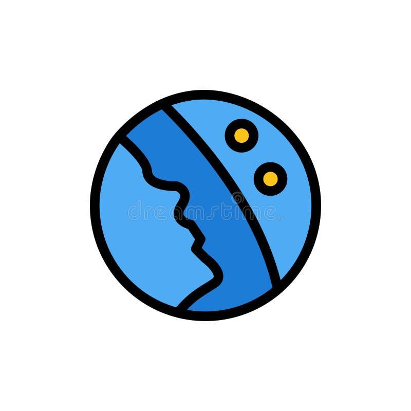 Dermatologia, Sucha skóra, skóra, skóry opieki koloru Płaska ikona Wektorowy ikona sztandaru szablon ilustracja wektor
