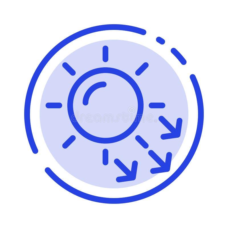 Dermatologia, Sucha skóra, skóra, skóry opieki linii linii błękit Kropkująca ikona ilustracja wektor