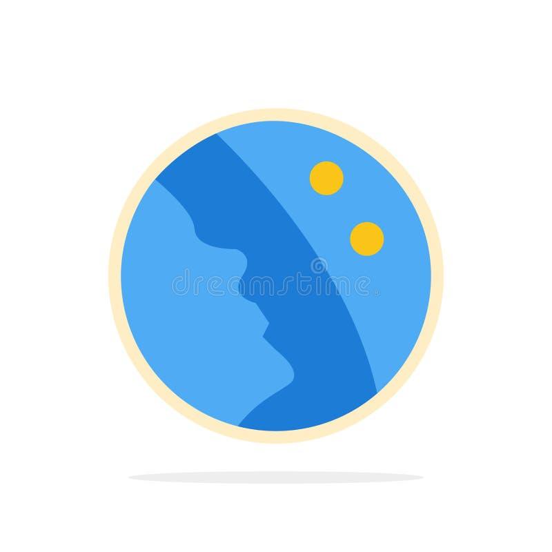 Dermatologia, Suchość Skóry, Skóra, Opieka Skórna Abstrakcyjne Okrąg Tła Ikona O Płaskim Kolorze ilustracja wektor