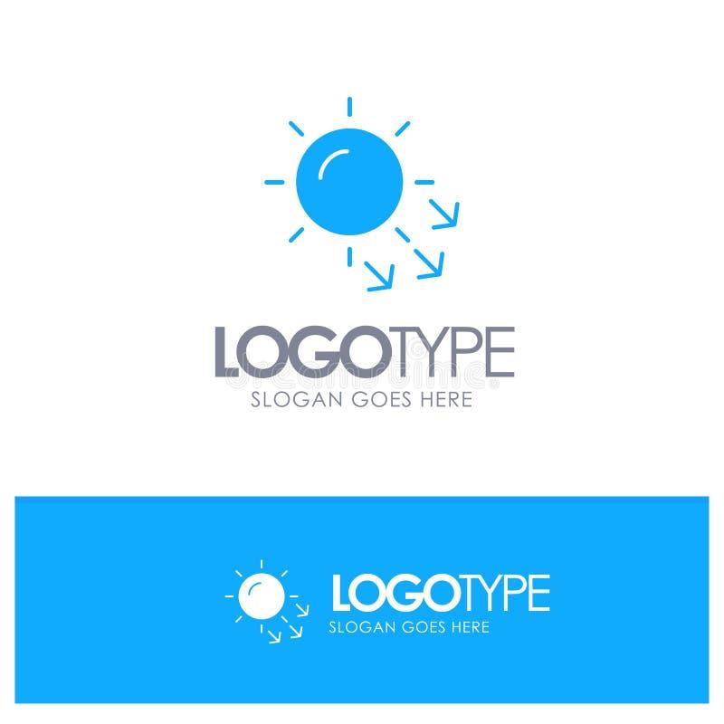 Dermatologie, trockene Haut, Haut, Hautpflege-blaues festes Logo mit Platz für Tagline stock abbildung