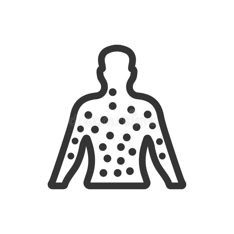Dermatologii ikona royalty ilustracja