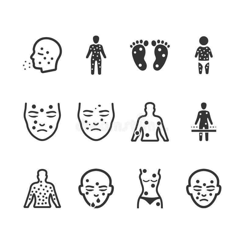 Dermatologii ikony - Szara wersja royalty ilustracja