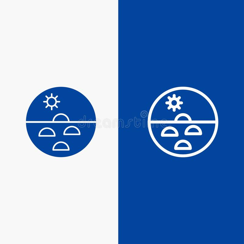 Dermatologii, Suchej skóry, skóry, skóry opieki, skóry linii i glifu Stałej ikony sztandaru glifu, Błękitnej ikony błękita Stały  ilustracja wektor