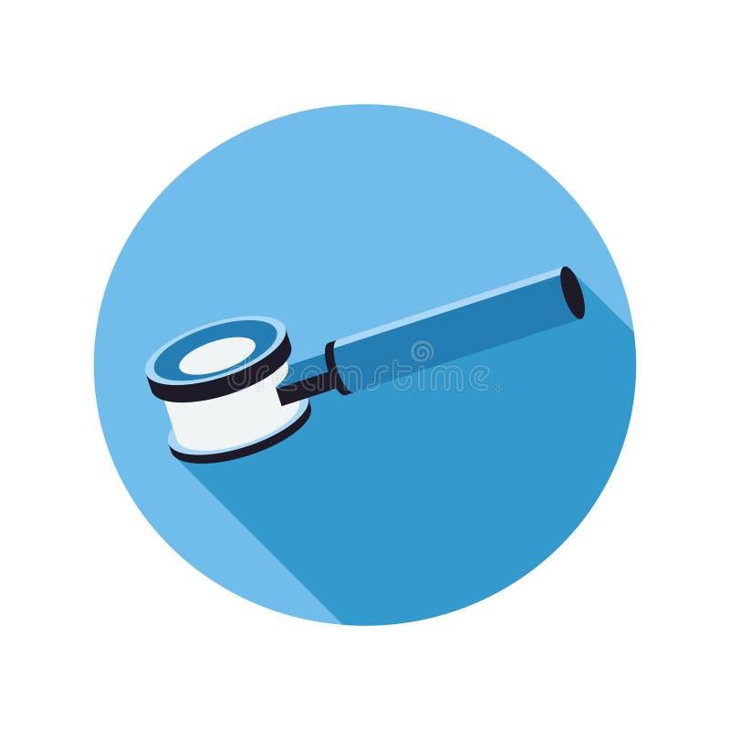 Dermatoscope ist ein Gerät für die Untersuchung der Haut Gerät für die Untersuchung von Hautkrankheiten stock abbildung