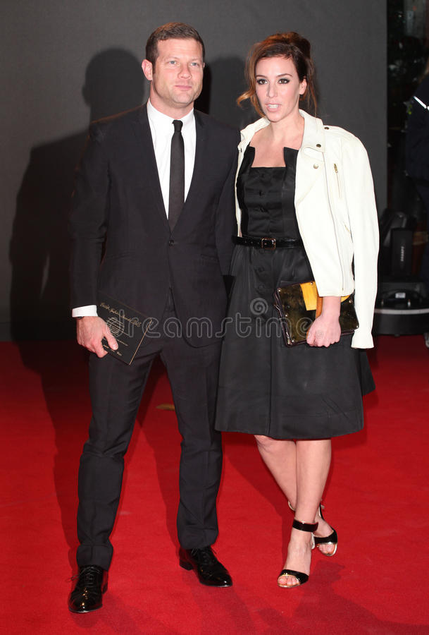 Dermot O'Leary. And wife Dee arriving for the 2013 British Fashion Awards, at The London Coliseum, London. 02/12/2013 Picture by: Alexandra Glen / Featureflash royalty free stock photos