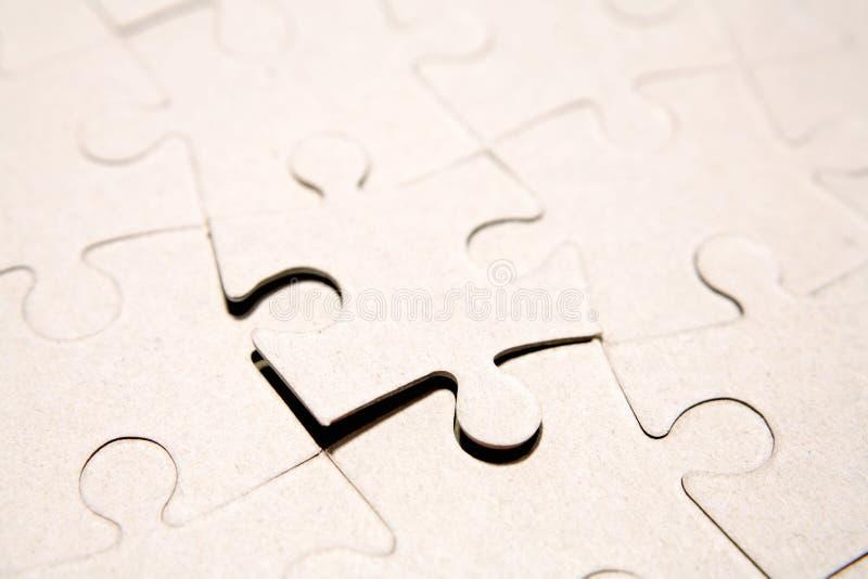 Dernière partie de puzzle photo libre de droits