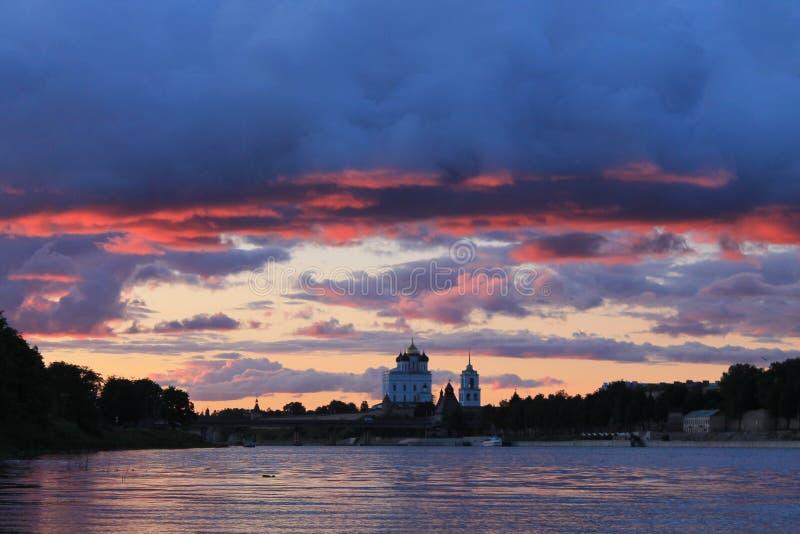 Dernières secondes de coucher du soleil photographie stock libre de droits