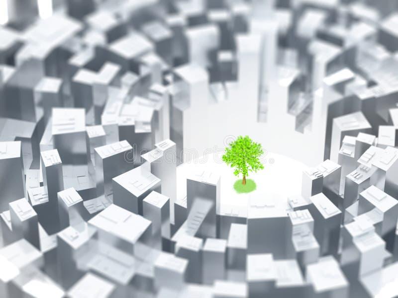 Dernier arbre illustration de vecteur