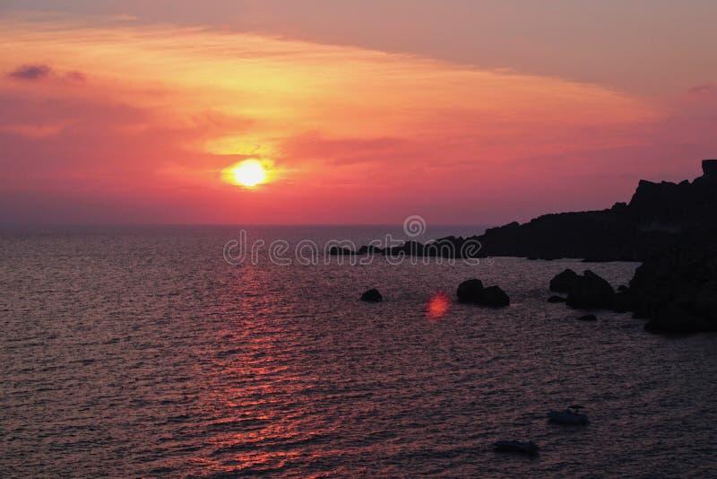 Dernier coucher du soleil photographie stock libre de droits