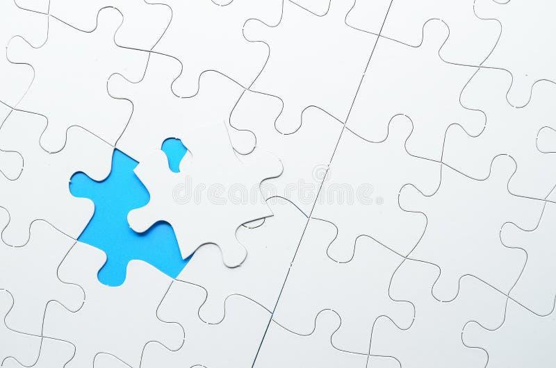 dernier puzzle denteux de partie photo libre de droits