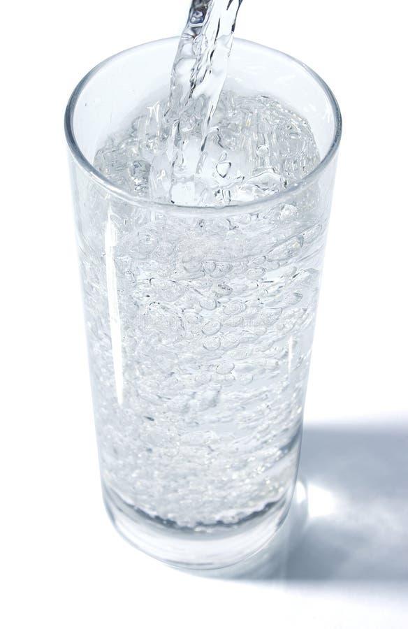 Derramamento da água foto de stock