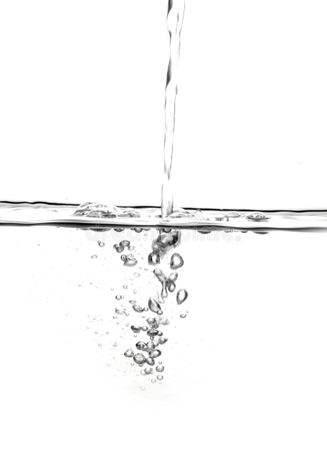 Derramamento da água foto de stock royalty free