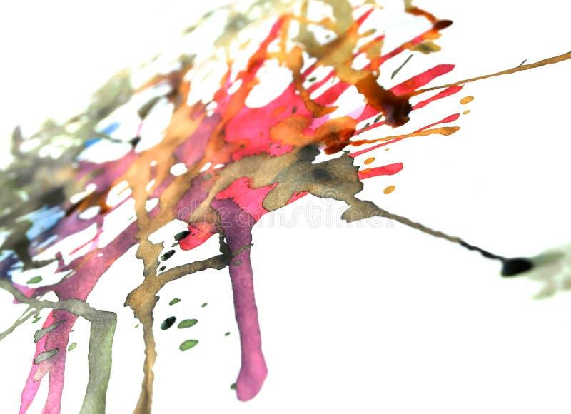 Derramamento da tinta ilustração stock