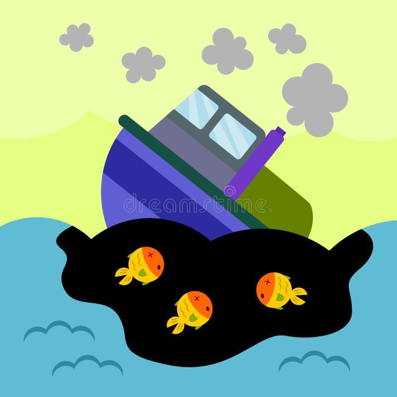 Derramamento de óleo ilustração stock