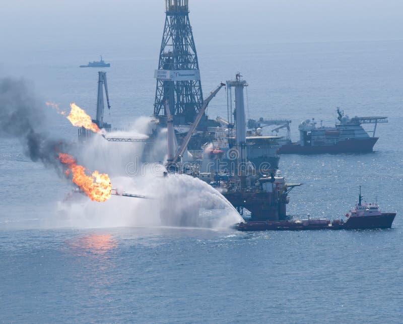Derramamento de petróleo do horizonte da água profunda de BP foto de stock royalty free