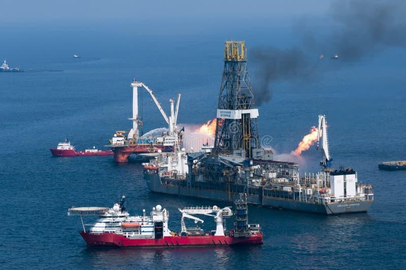 Derramamento de petróleo do horizonte da água profunda de BP fotos de stock royalty free