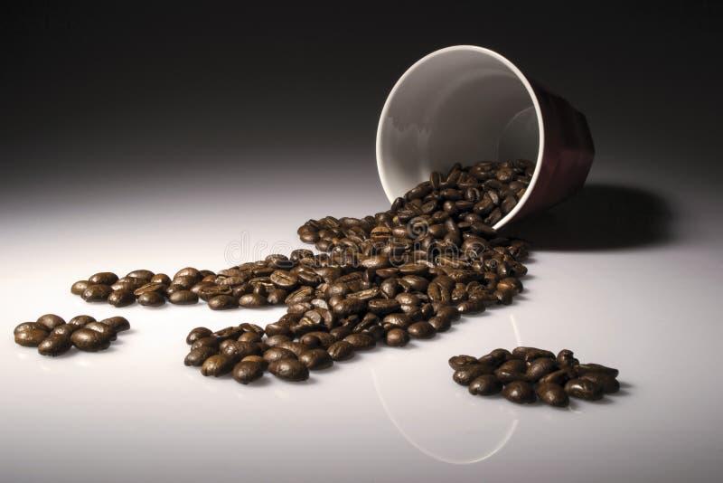 Derramamento do café fotos de stock royalty free
