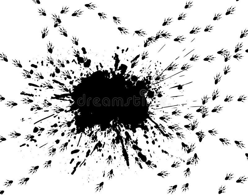 Derramamento do rato ilustração stock