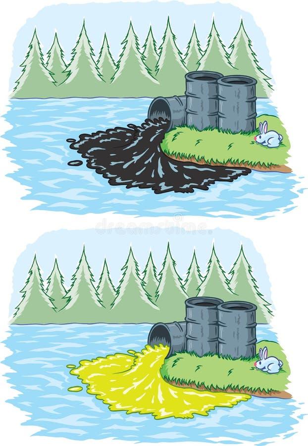 Derramamento tóxico ilustração royalty free