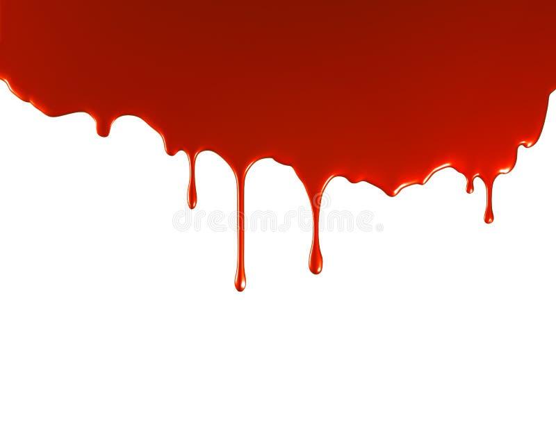 Derramamento vermelho da pintura ilustração stock