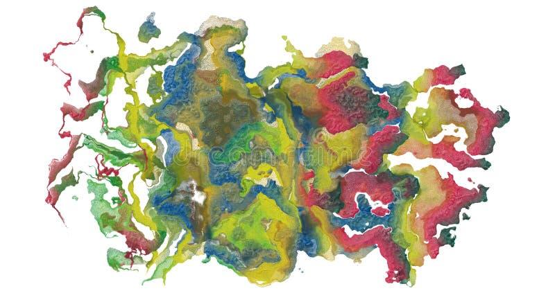 Derramamiento de colores stock de ilustración