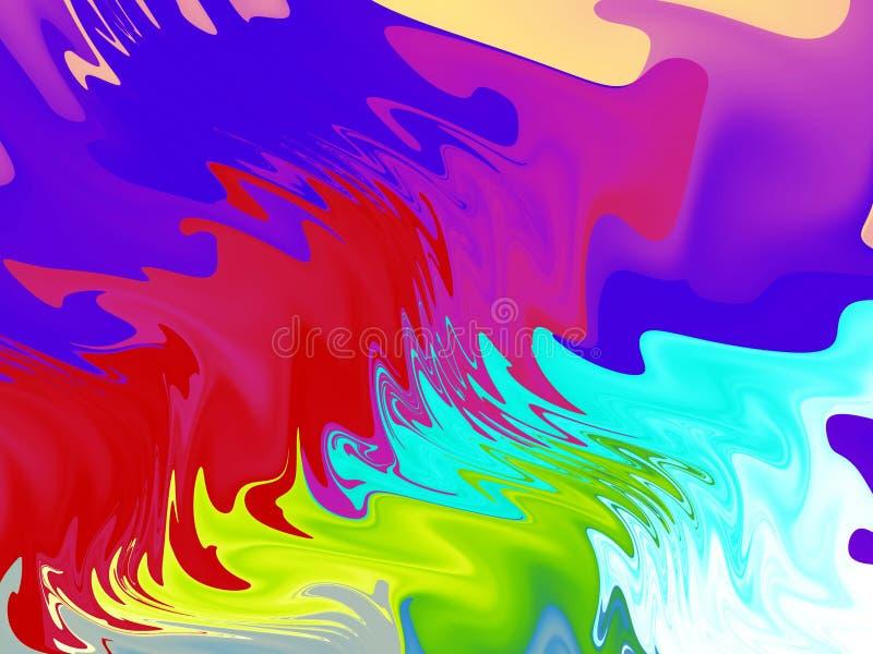 Derramamiento de la pintura brillante ilustración del vector