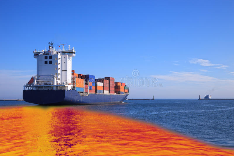 Derramamiento de petróleo imagen de archivo