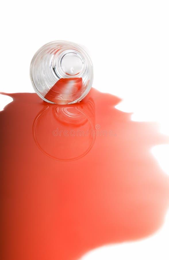 Derramamiento rojo fotos de archivo