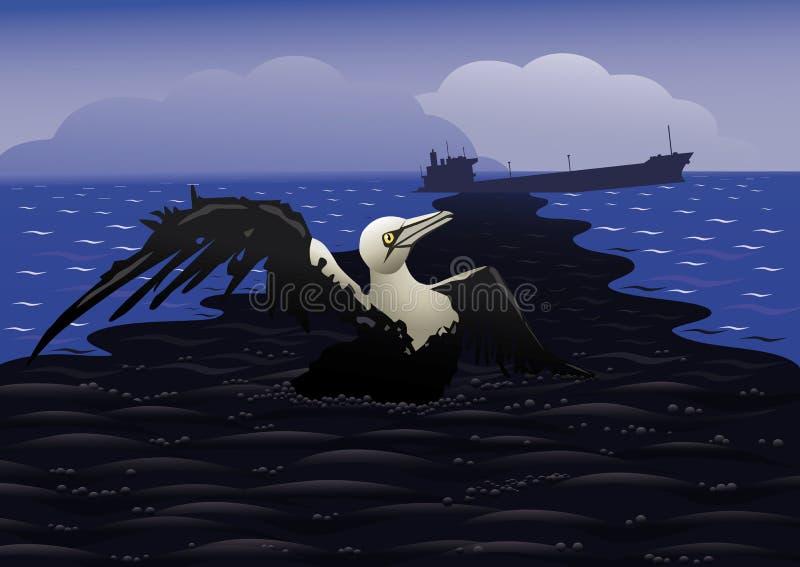 Derrame de petróleo desastroso libre illustration