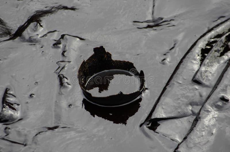 Derrame de petróleo en la playa del Ao Prao, isla de Kho Samed. fotografía de archivo
